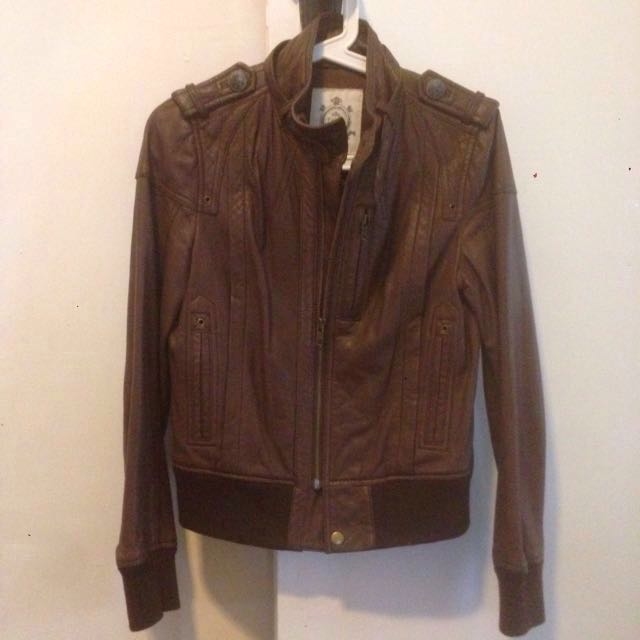 Enigma Soft Brown Leather Jacket