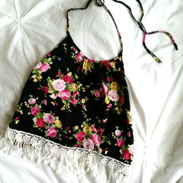 Floral Halterneck Top