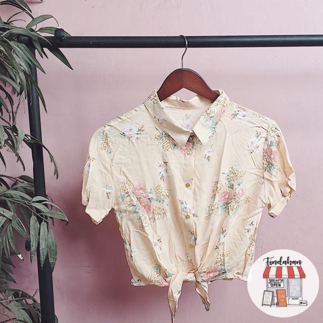 Floral tie down shirt