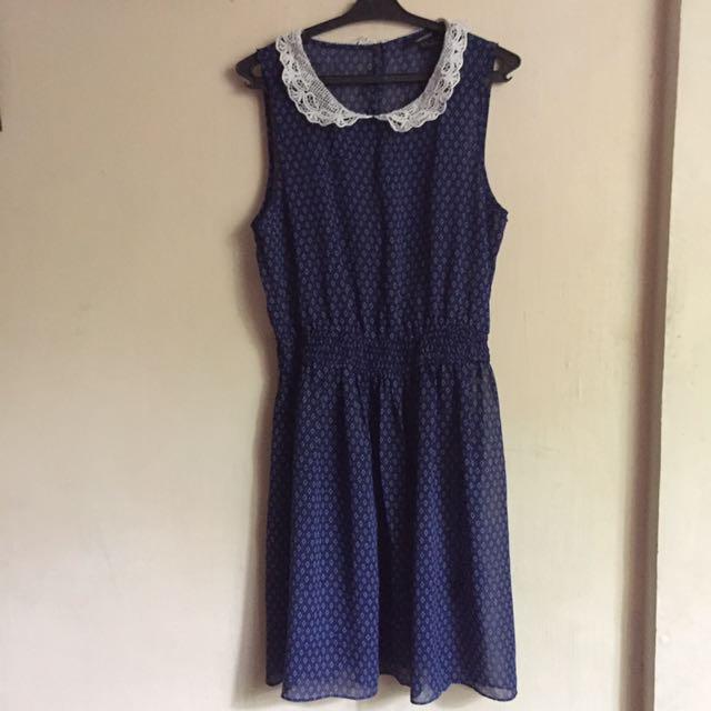 Forever 21 Sheer Blue Dress