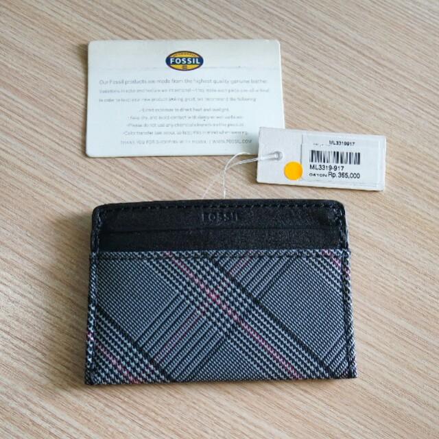 Fossil men card holder original case wallet dompet kartu authentic
