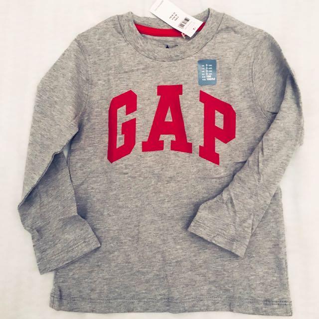 🎈全新GAP199元商品「男童衣櫃爆🈵️大出清」 Gap logo 基本款長薄丅恤