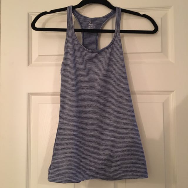 GAP athletic tank purple and white XS