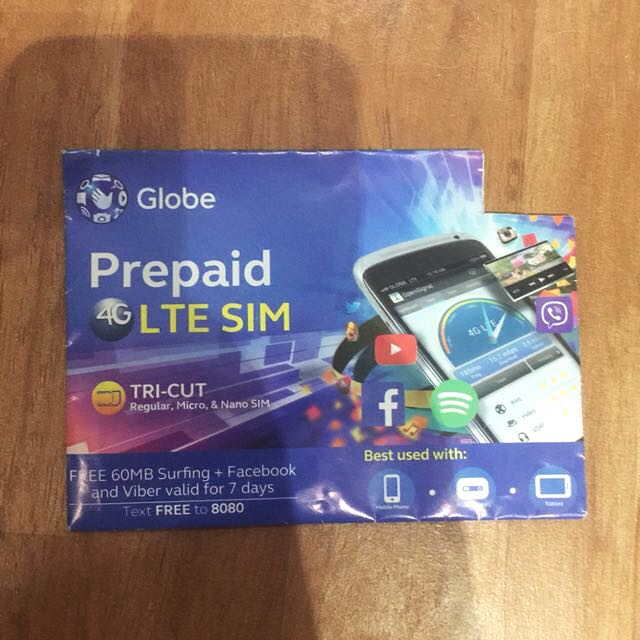 Globe Prepaid 4G LTE Sim