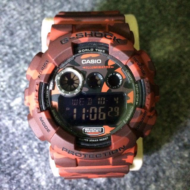 G-shock 迷彩紅