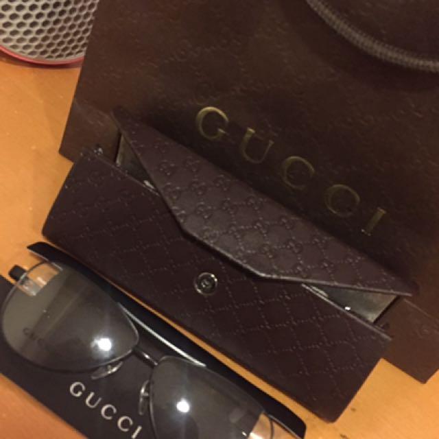 Gucci 咖啡色平光眼鏡