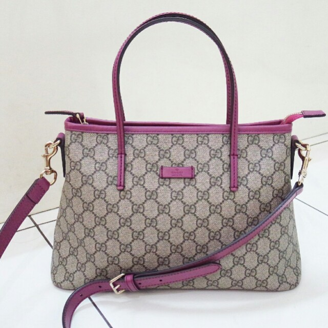 Gucci Authentic GG Supreme tote bag satchel canvas original tas asli