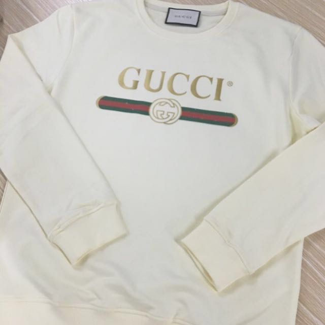 GUCCI Logo Sweatshirt (cream)