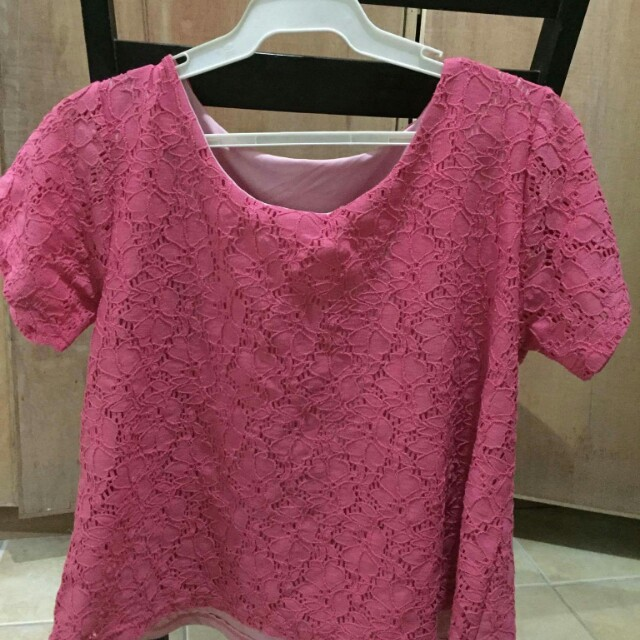 HTP Pink Lace Top