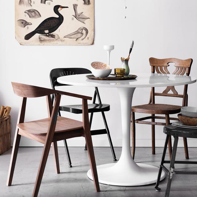 Ikea docksta tulip round dining table furniture tables chairs on carousell - Tavolo docksta ikea ...