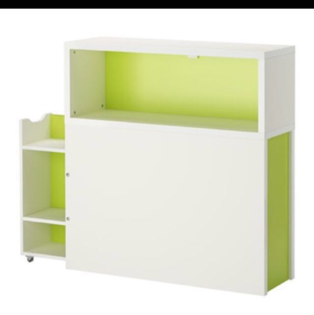 IKEA Flaxa Headboard With Storage Compartment, Furniture, Beds u0026 Mattresses  on Carousell