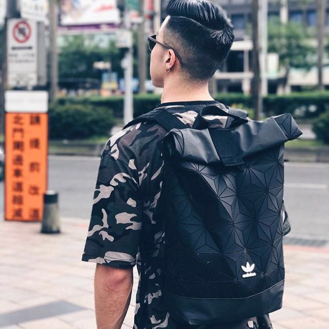 e4409dd1292e INSTOCK  Authentic Adidas Issey Miyake 3D Rolltop Backpack in Black ...