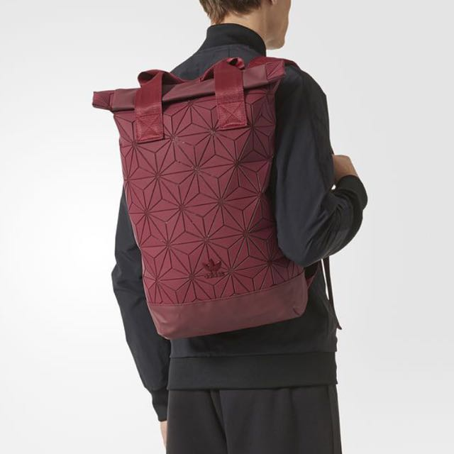 107a017c1322 INSTOCK  Authentic Adidas Issey Miyake 3D Rolltop Backpack In Wine ...