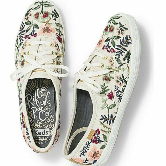 Keds x RIFLE PAPER Co champion herb garden shoes