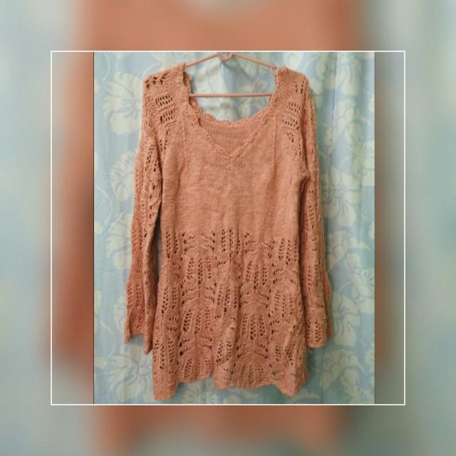 Knit beach dress