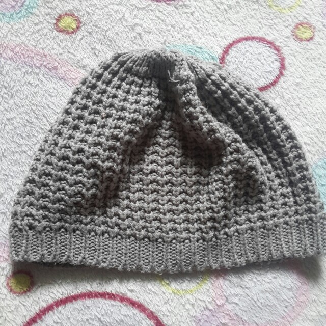 Knitted Gray Beanie