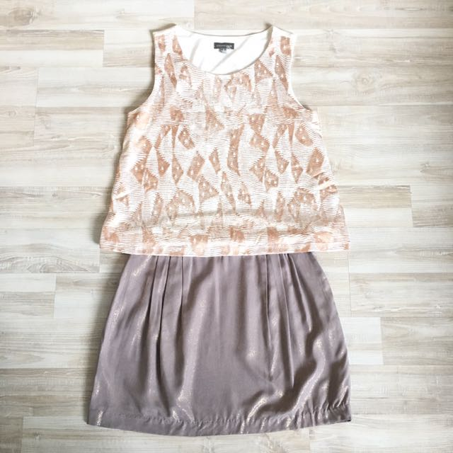Kookai Skirt and Suzanne Grae Top