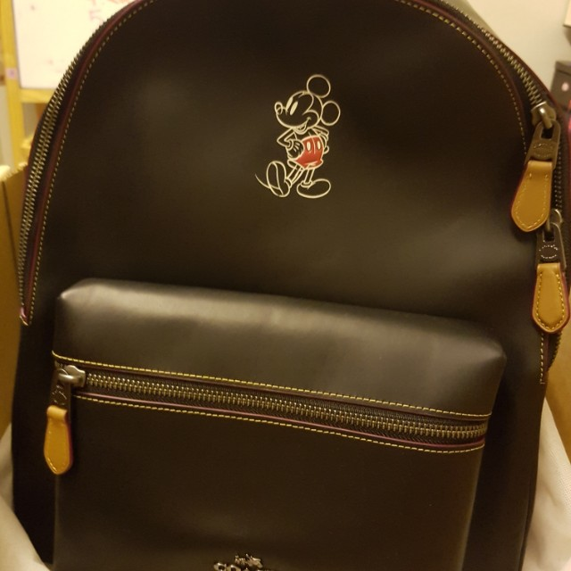a40dd4817f4f hot limited edition coach mickey mouse backpack bn luxury bags wallets on  carousell 3bb65 441c1