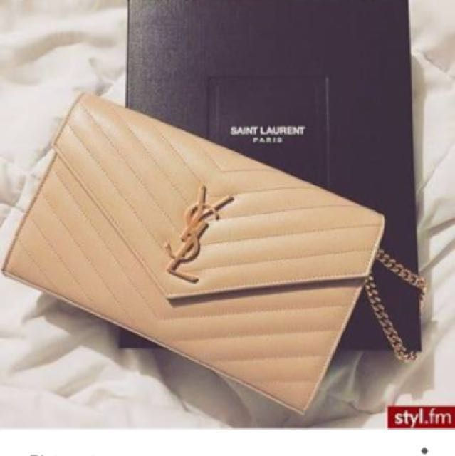 Looking For - Nude Ysl Yves Saint Laurent Bag Clutch