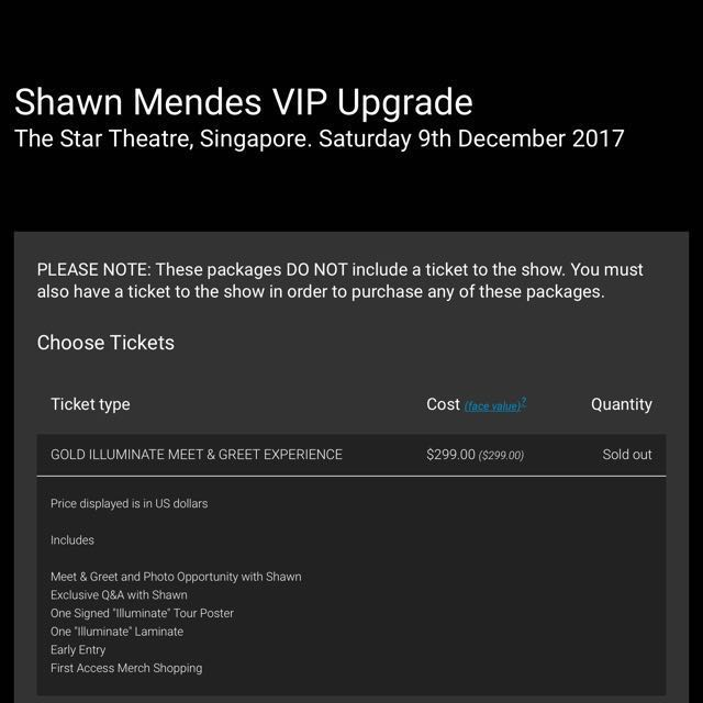 Looking for shawn mendes vip gold illuminate tour ticket bulletin looking for shawn mendes vip gold illuminate tour ticket bulletin board looking for on carousell m4hsunfo