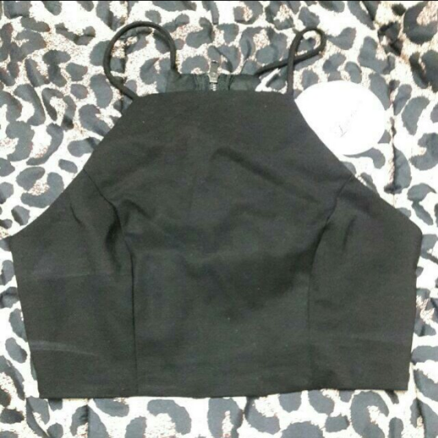 Luvalot Black Crop Top