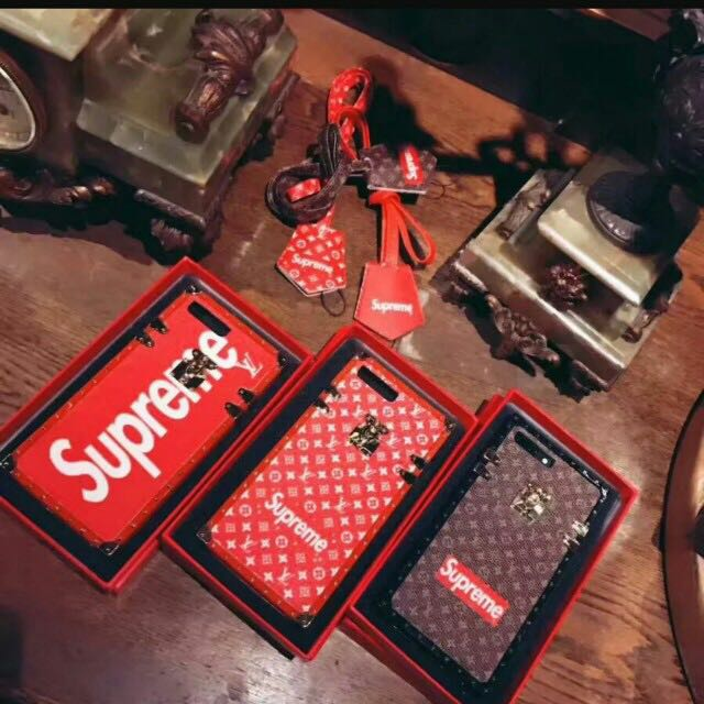 Lv × Supreme mob case . Iphone cases
