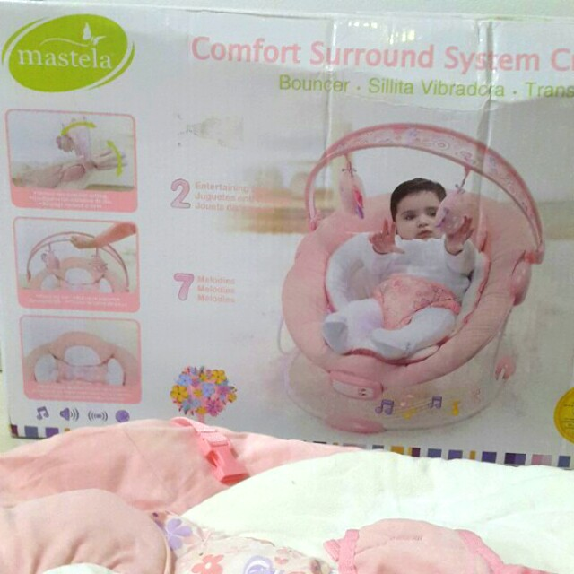 Mastela baby bouncer with music