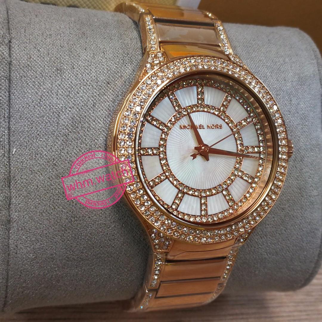 d0673e4ae3c MICHAEL KORS(MK)   MK3313 Kerry Pavé Rose Gold-Tone Watch