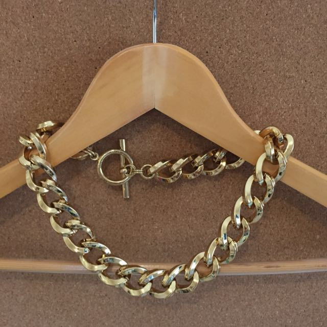 Mimco gold chunky necklace