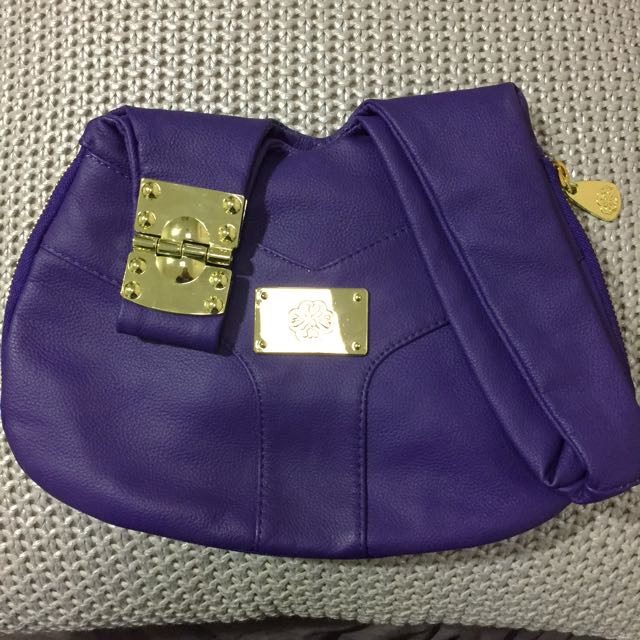 Mischa Purple Handbag with Gold