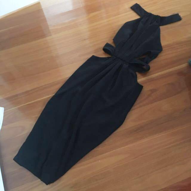 Misha Collection Black Halter neck dress size Small