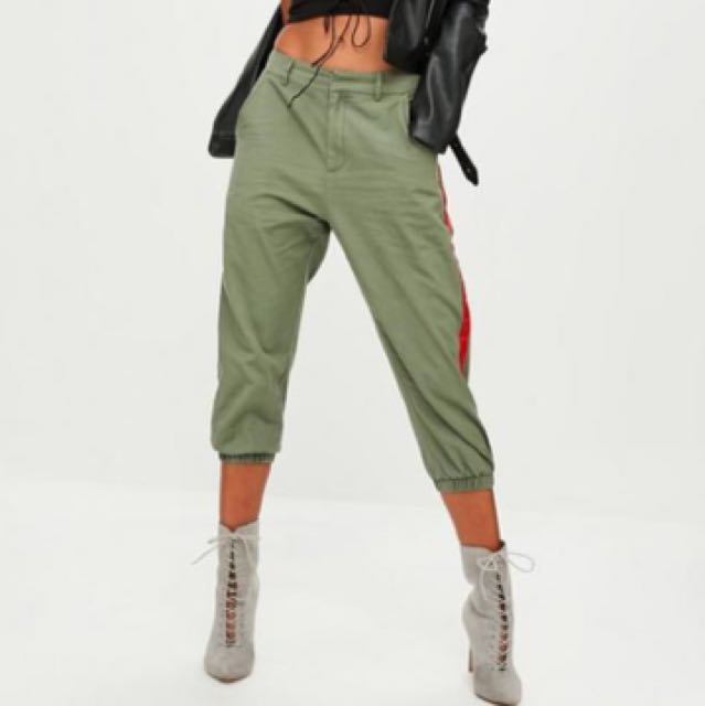 Missguided Khaki Cropped Trousers
