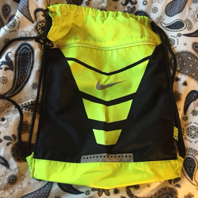 Nike Volt Green and Black string bag