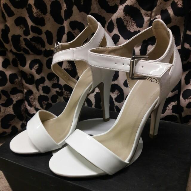 Novo Lupay White Heels