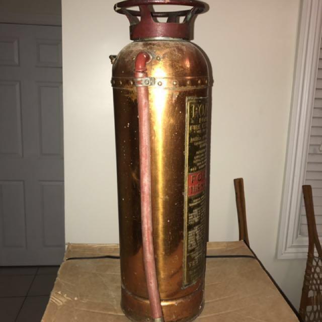 Original Foamex fire extinguisher