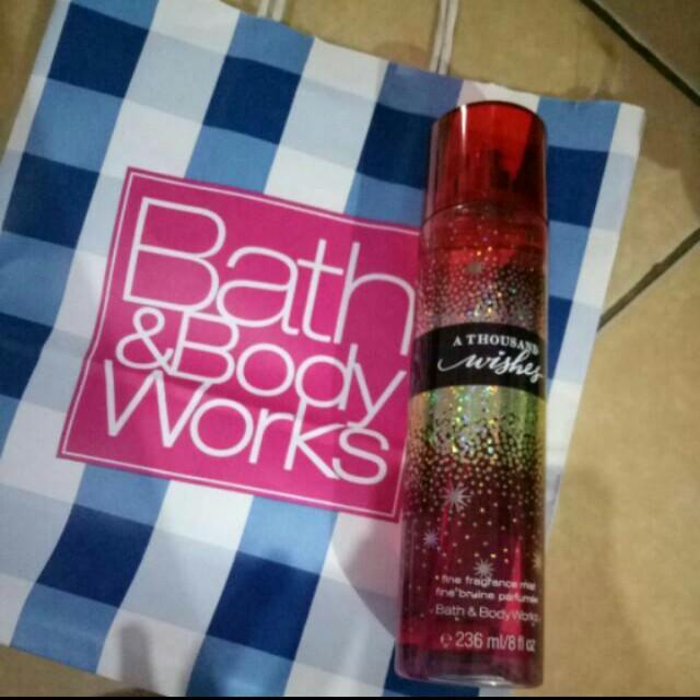Parfum body mist bbw thousand wishes