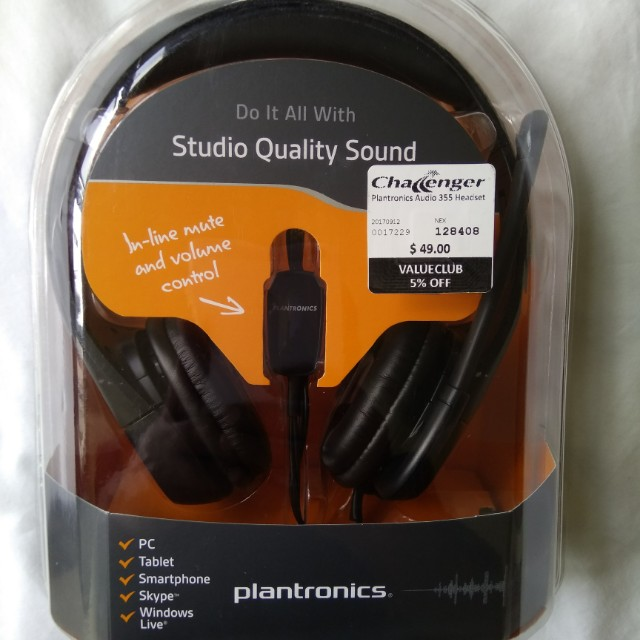 93473d445cd Plantronics Audio 355 Headset (3 units available), Music & Media ...