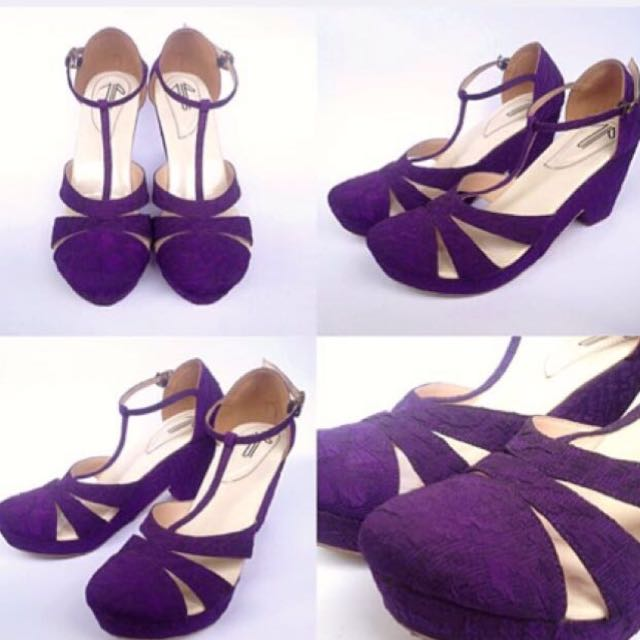 •PRELOVED• Candy Purple UP Shoes by Diana Rikasari