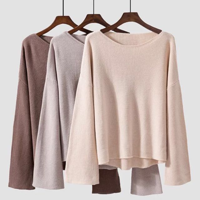 READY STOCK Oversized Knitted Top