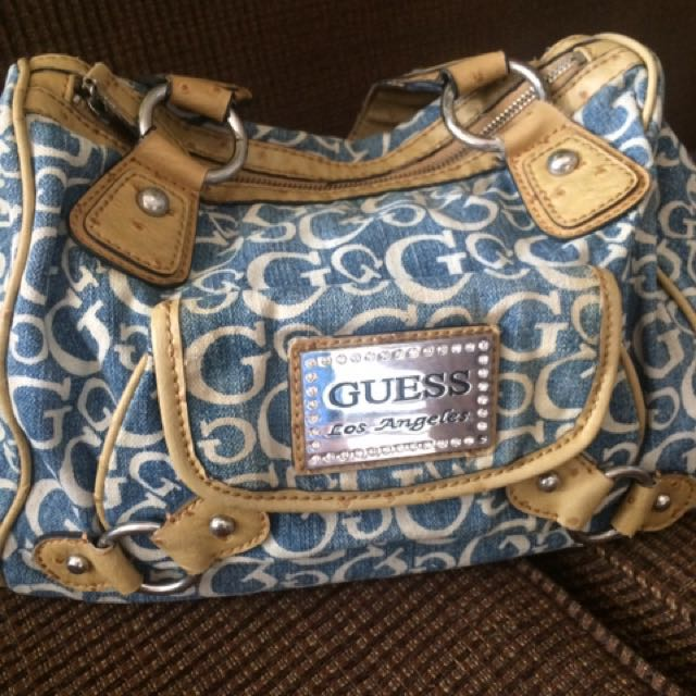 REPRICED!!!Authentic Guess Denim Bag