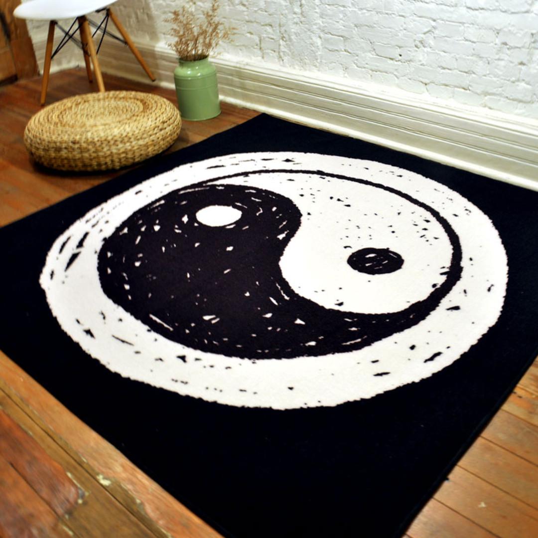 Retro Floor Mat Tai Chi Yin Yang Symbol Furniture Others On