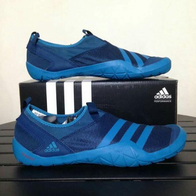 buy online 0e293 2fc6f Sepatu Outdoor Adidas Climacool Jawpaw Slip On Sky Blue ...