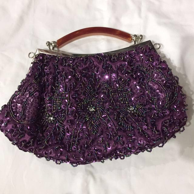 Sequins and beads evening bag