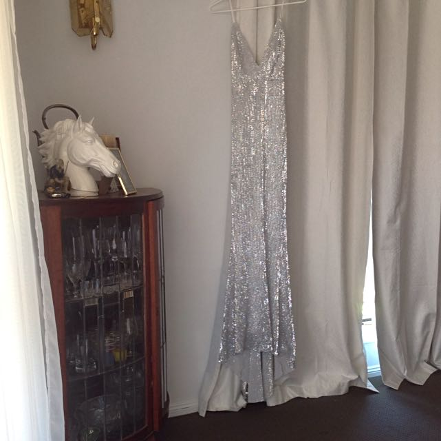 Silver Sequin Formal Dress