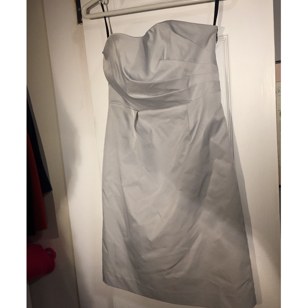Silver Strapless Dress (fits x-small-small)