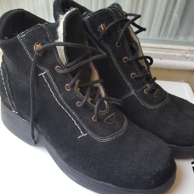 Size 6 Black Seude boots