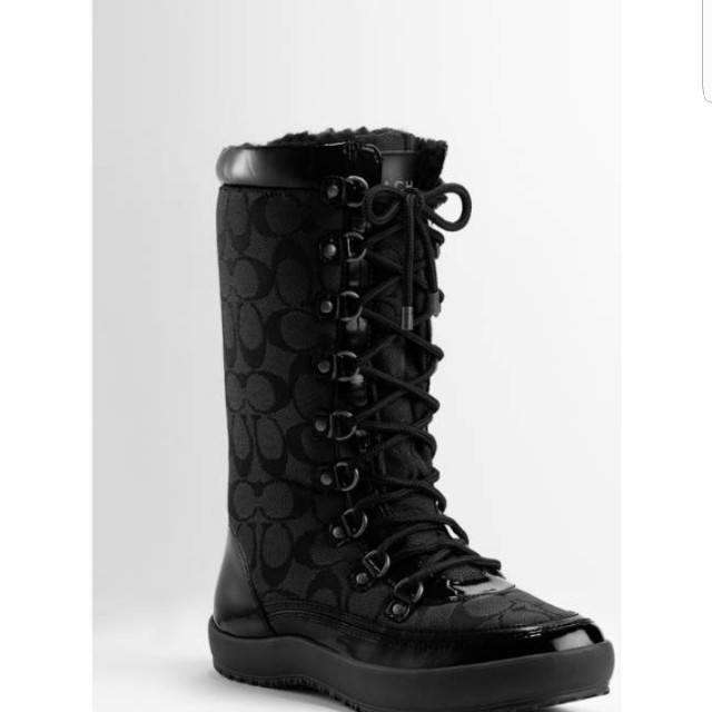 Size 6 Coach Peggy Black Winter Boots