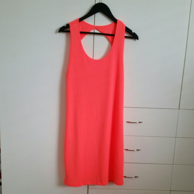 Sports bright orange dress