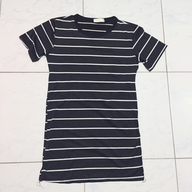 Stripes shirt-dress