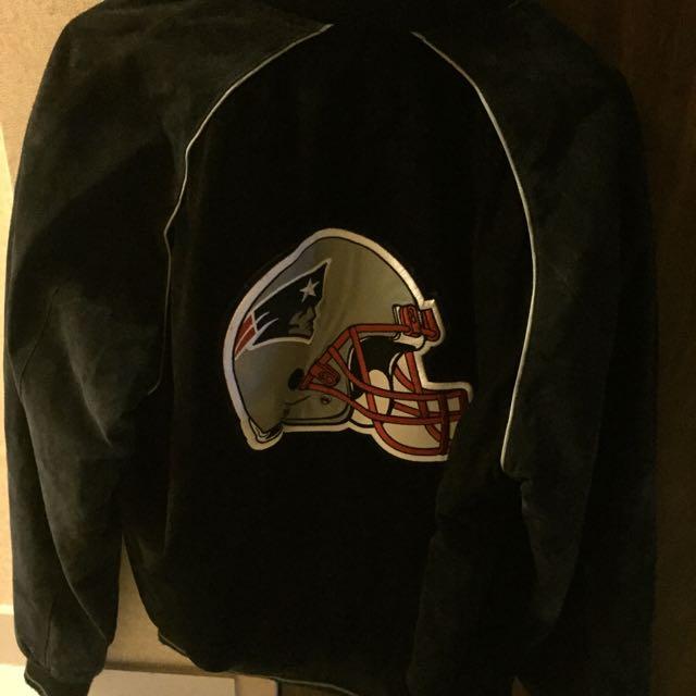 Suede New England Patriots Varsity Jacket